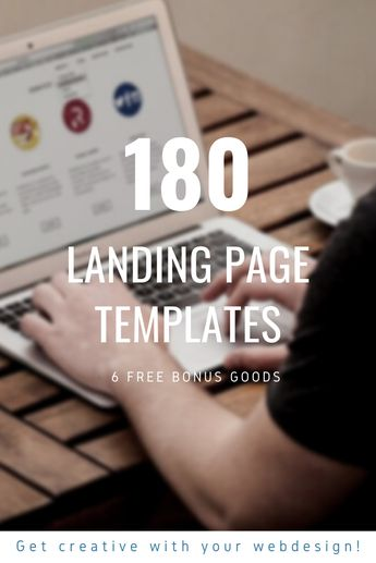 180 Landing page templates