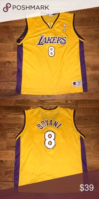 2c5ad5b5879c Vintage Kobe Bryant Lakers Jersey Vintage Kobe Bryant Lakers Jersey  Champion Shirts Tank Tops