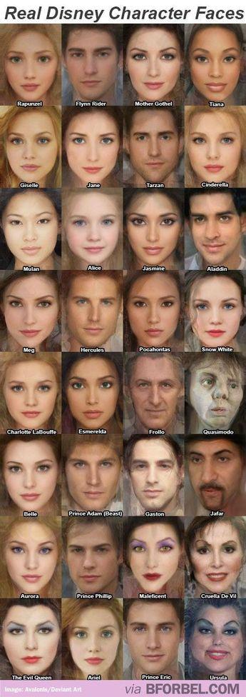 true disney faces