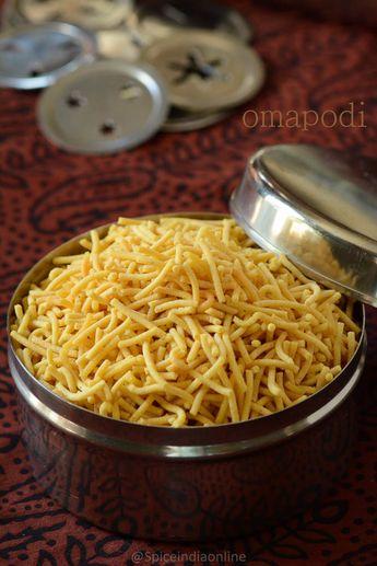 OMAPODI RECIPE - Plain Sev recipe - Diwali Snacks