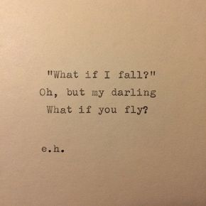 Erin Hanson Hand Typed Quote On Vinatge Typewriter