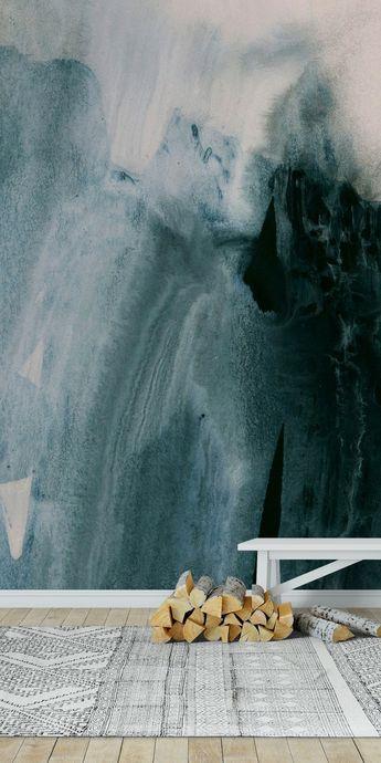 Greyish brushstrokes Wall Mural / Wallpaper Abstract