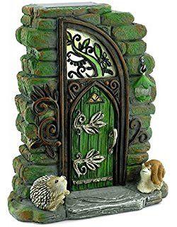 Erin Green Solar Fairy Door: Fairy Garden Landscaping Miniature Door
