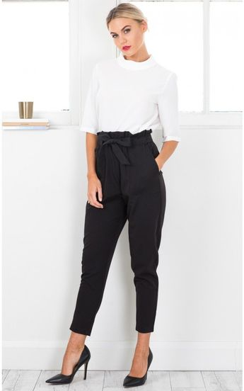 Work Up Pants In Black Produced