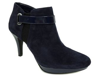 57121d06179 Bandolino Women s Cambria Platform Booties Navy Blue Suede Size 9 M   Bandolino  AnkleBoots