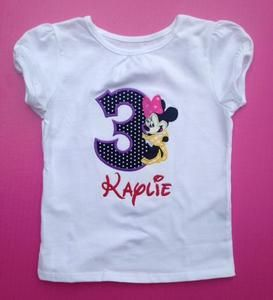 87c2905a Minnie Mouse Birthday Shirt or Onesie