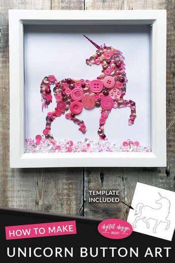Unicorn Button Art Tutorial