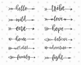 Arrows svg Family svg files Boho Arrows svg Boho clipart Arrow svg files Family svg file love svg decorative Boho arrow cut file silhouette