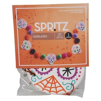Spritz Halloween Skull Paper Garland