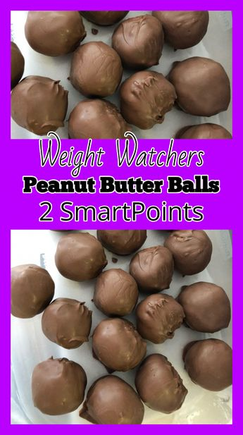 weight watchers peanut butter balls - weight watchers recipes