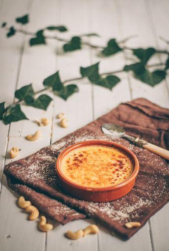 Crème brûlée végane