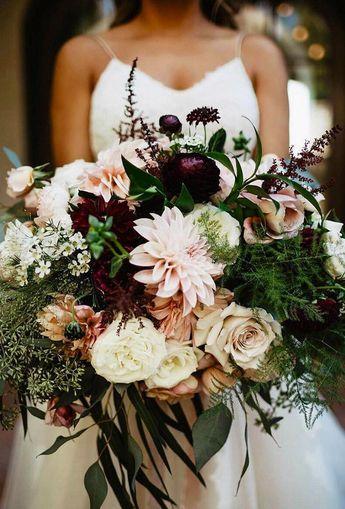 30 Wonderful Dahlias Wedding Bouquets