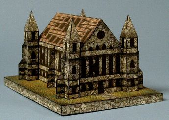 The Gothic Chapel - with secret chamber -- paper art