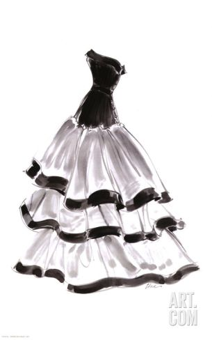 Evening Gown with RufflesBy Tina