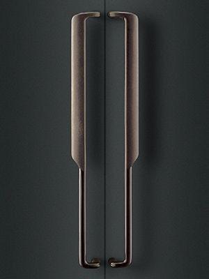 black metal door handle stainless steel texture