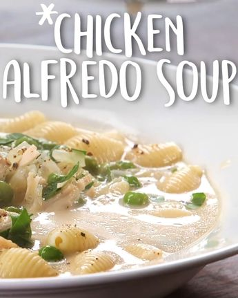 The world's most perfect 30-minute soup recipe: Chicken Alfredo Soup : #chickenalfredo #chickensoup #alfredosoup #easyrecipes #tastyfoodvideos #lowcarb #keto #crockpot #souprecipe