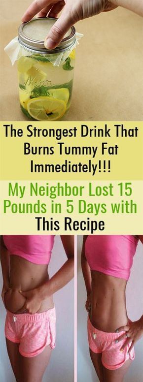 The Strongest Drink That Burns Tummy Fat Immediately!!! My Neighbor Lost 15 Pounds in 5 Days with This Recipe | Remedy