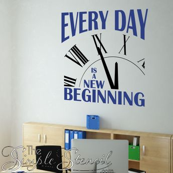 Every Day Is A New Beginning | Motivational Wall Quote For Goal Setting