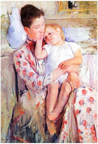Mary Cassatt Mother and Child Art Print Poster Photo