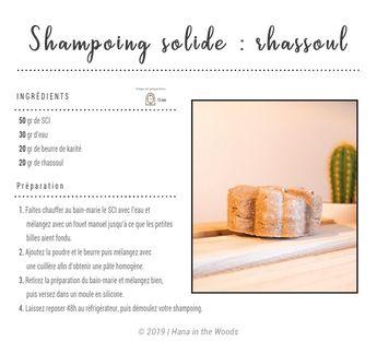 Shampoing solide au rhassoul
