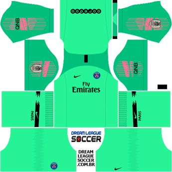 266970cad kit-PSG-dls18-home-Gk-uniforme-goleiro-casa-