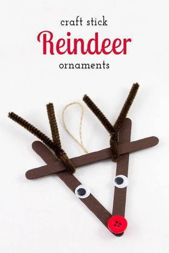 Classic Craft Stick Reindeer Ornaments