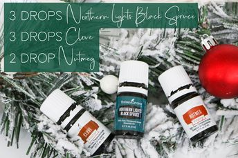 Holiday Essential Oil Blends are the perfect way to make your home smell great during the Christmas season. Northern Lights Black Spruce, Clove, and Nutmeg create the perfect winter essential oil blend.