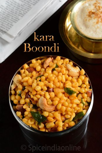 Kara Boondi ~ Boondi ~ Diwali Recipes