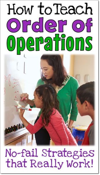 Teaching Order of Operations: No-fail Strategies that Really Work!