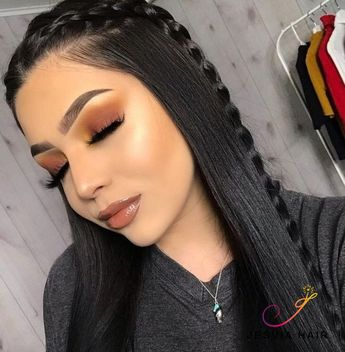 Lace Front Human Hair Wigs Pre Plucked with Baby Hair Brazilian Straight