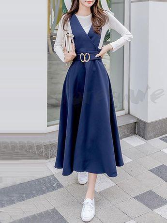 9e6b13616c18f ファッション通販 #Fashion Doresuwe長袖ブラウス韓国風ワンピースレディース韓国風大人可愛い