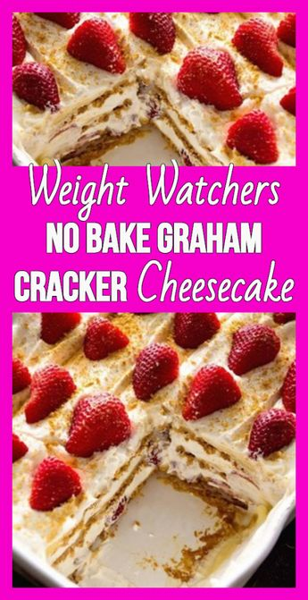 Weight Watchers No Bake Graham Cracker Cheesecake - weight watchers recipes 3 SP #RecipesEasy