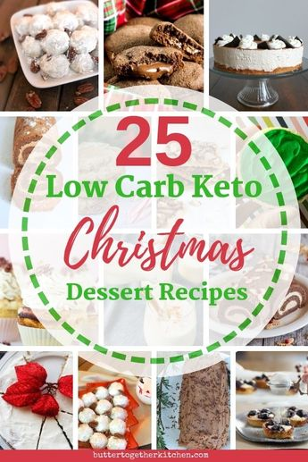 25 scrumptious Low Carb Keto Christmas Dessert Recipes to get your holiday started! In this festive Christmas roundup you'll find keto recipes for cookies, cakes, cheesecakes, and more!