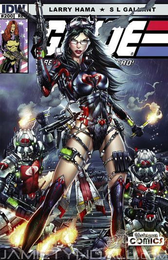 G.I. Joe comic cover featuring Baroness by Jamie Tyndall