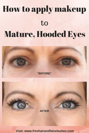 Mature, Hooded Eyes. Tips & Tricks to apply makeup for every day wear.