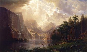 Among the Sierra Nevada, California (1868) by Albert Bierstadt