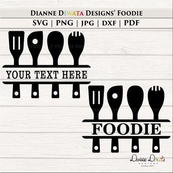 Kitchen Utensil Svg Baking Utensil Clipart Kitchen Signs