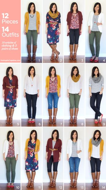 12 Pieces, 14 Outfits - Fall Packing 2014