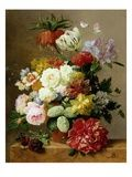 A Rich Still Life of Summer Flowers Giclee Print by Jan van Os at AllPosters.com