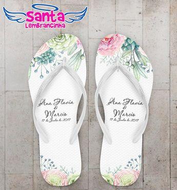 e023d455aa Chinelo Casamento Floral Delicado Personalizado COD 5013