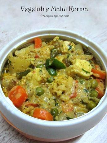 Vegetable Malai Korma Recipe