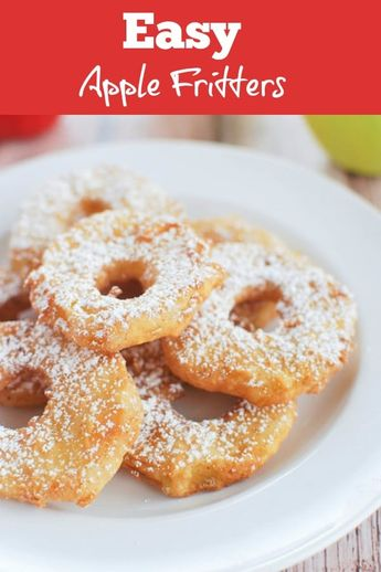 Easy Apple Fritters - sliced apples dipped in batter and fried until golden and delicious! The easiest apple fritters you will ever make!