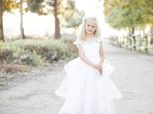 Kryssi Kouture Angelic Grace White Flower Girl Dress