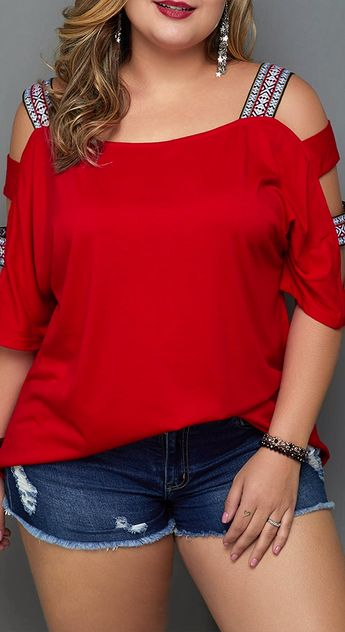 Go from day to night in this stylish  Plus Size top with Cutout Sleeve.This wardrobe must-have pairs effortlessly with denim to wear again and again.Shop deals at Rotita.