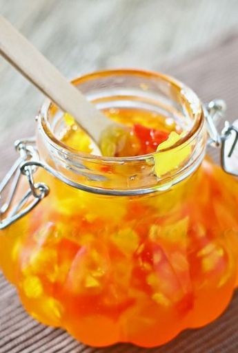 """Pineapple Red Pepper Chutney - but you DON""""T need to put it in a water bath."""