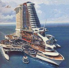 Vijftig jaar geleden konden we ons niet indenken dat er cruiseschepen zouden bestaan die 5.000 passagiers kunnen vervoeren. En hoe benieuwd we ook zijn naar de innovaties van nieuwe schepen als de Quantum of the Seas, zijn we eigenlijk ook erg nieuwsgierig naar hoe cruiseschepen er over 50 jaar van nu uit komen te zien.