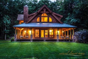 The summer night is like a perfection of thought. — Wallace Stevens  Deep Gap Lodge | Natural Element Homes
