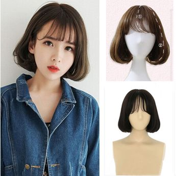 Details about Lady Girl Multi Color Short Bob Straight Thin Bang Full Hair Wig Party Cosplay