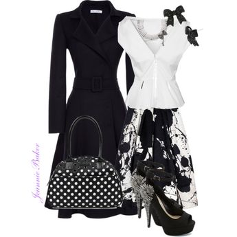 Black and White, created by jbaker1663 on Polyvore
