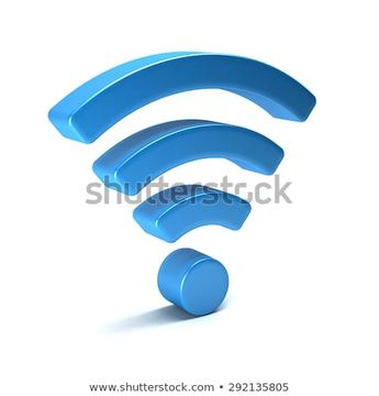 Wireless wifi 3D render isolated  #wifi #3d #blue #connection #communication #network #symbol #icon